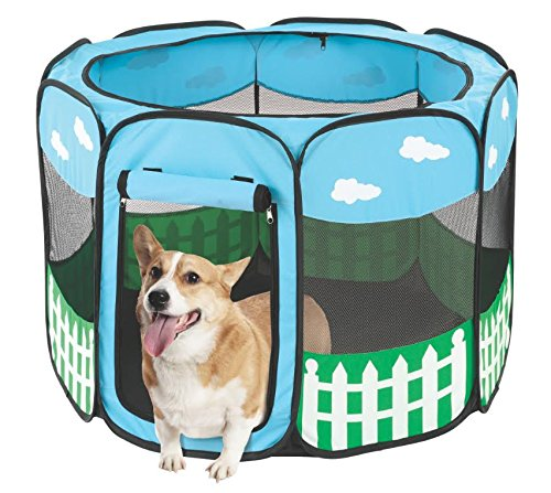 Pet Shelters Pop Up : Pet portable foldable play pen exercise kennel dogs cats