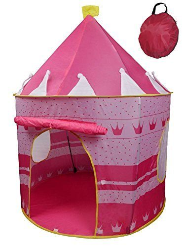 Pink-Tent-Princess-Castle-Play-for-Girls-by-  sc 1 st  Discount Tents Nova & Pink Tent Princess Castle Play for Girls by Creatov®. Indoor ...
