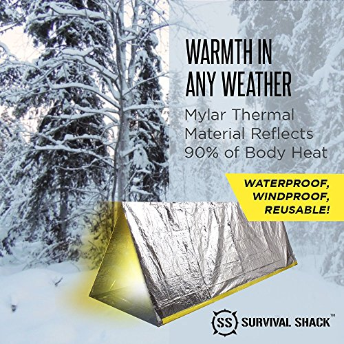 Survival-Shack-Emergency-Survival-Shelter-Tent-2-Person-  sc 1 st  Discount Tents Nova & Survival Shack® Emergency Survival Shelter Tent | 2 Person Mylar ...