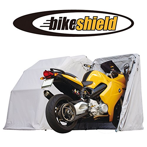 The bike shield junior small motorcycle shelter storage cover tent garage discount - Motorcycle foldable garage tent cover ...