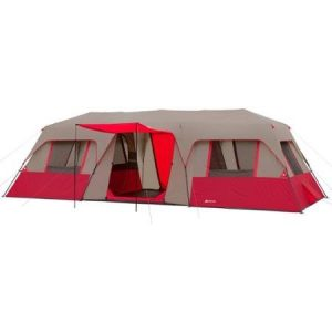 Ultra-Spacious-Easy-Care-and-Transport-Ozark-Trail-25-x-10-Split-Plan-Instant-Cabin-Tent-Sleeps-15-Red-0
