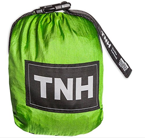 1-Premium-Single-Camping-Hammock-Bonus-Straps-By-TNH-Outdoors-Premium-Quality-Hammock-Strong-9ft-Straps-With-30-Hitch-Points-Larger-10x5ft-Hammock-Lifetime-Warranty-0