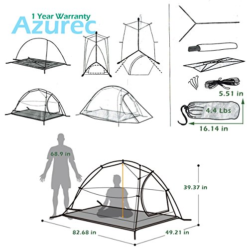 Azurec 1-2-3 Person 4 Season Lightweight Waterproof Double Layer Backpacking Tent for C&ing Hiking (Green - 2 Person) | DiscountTentsNova  sc 1 st  Discount Tents Nova & Azurec 1-2-3 Person 4 Season Lightweight Waterproof Double Layer ...