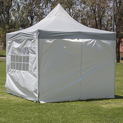 BELLEZZA-Premium-Easy-Pop-Up-Canopy-Tent-10- & BELLEZZA© Premium Easy Pop Up Canopy Tent 10 x 10 ft 4 Removable ...