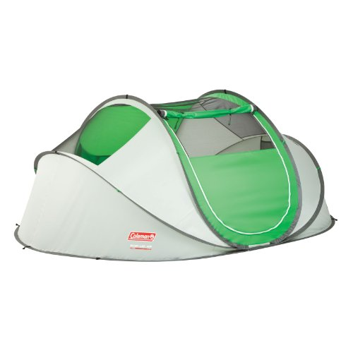 Coleman Company 4 Person Pop Up Tent Green Grey