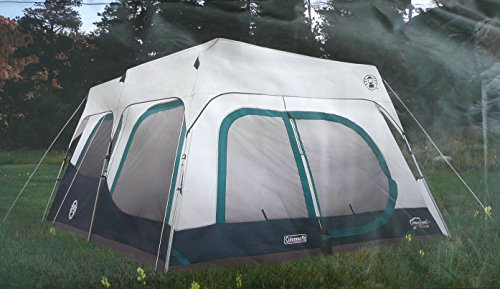 the best attitude 75095 41360 Coleman Instant 10 Person Cabin Tent with Rain Fly 2 Rooms 6 Ft 4 In Center  Height