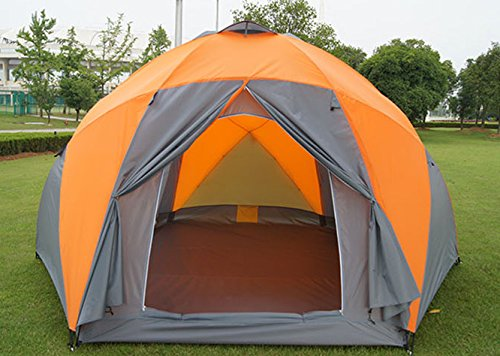 Pop Up Canopy Tent >> FUNS 6~8 Person Large Hexagonal Dome Yurt Tent 3 Doors Double-Wall Family Camping Tent ...