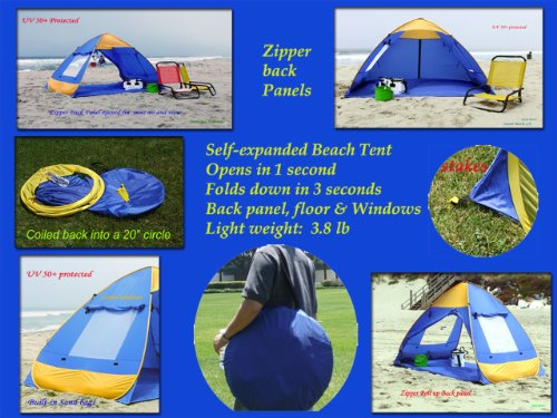 Genji Sports Pop Up Family Beach Tent And