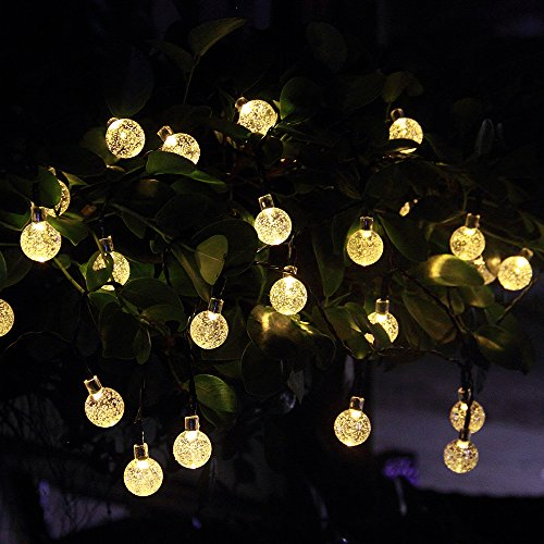 innoo tech solar outdoor string lights 197 ft