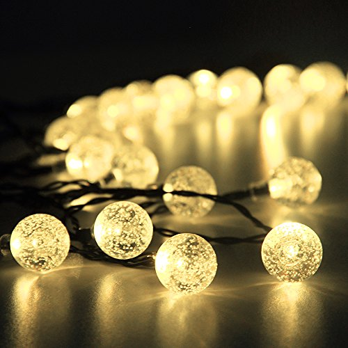 innoo tech solar outdoor string lights 197 ft 30 led warm white crystal ball christmas globe lights for garden path party bedroom decoration discount
