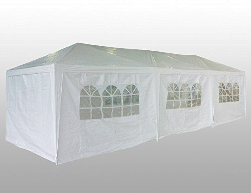 best sneakers a4d7a b8086 Last Two Days for Sales! Overwhelming Strong 10 X 30 White Wedding Party  Tent Gazebo Canopy Car Shelter with Sidewalls