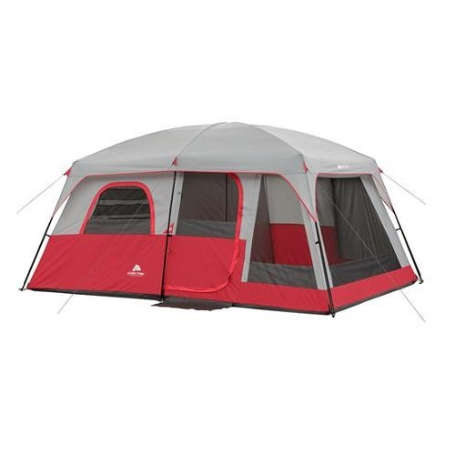 2 bedroom tent ozark trail 10 person 2 room family cabin tent 10019
