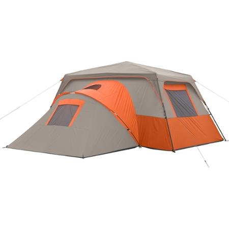 Ozark Trail 11 Person 3 Room Instant Cabin Tent Orange