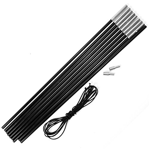 Replacement Fibreglass Pole Kit Shock Corded Camping Tent