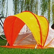 Snoozy-Toddler-Easy-Pop-Up-Shade-Tent-With-Slip-on-Cover-and-Handles-Orange-42×20-0-1