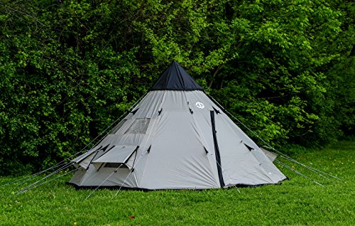 online retailer 1acd2 e8c6f Tahoe Gear Bighorn 4-Person 10′ x 10′ Teepee Cone Shape Tent   TGT-BIGHORN-4