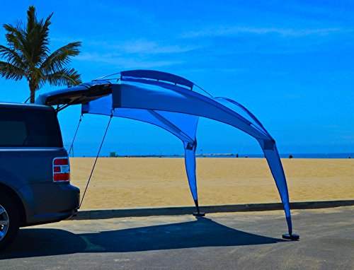 Superbe TailGator Sunshade Tm Portable Shade Blue 0 1