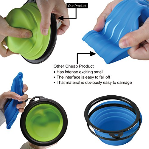 Portable Dog Water Bowl >> Travel Dog Bowl Pet Collapsible Food Water Bowls Traveling Camping Hiking Portable Feeder Dish With Free Carabiner Belt Clip Water Bottle Holder High