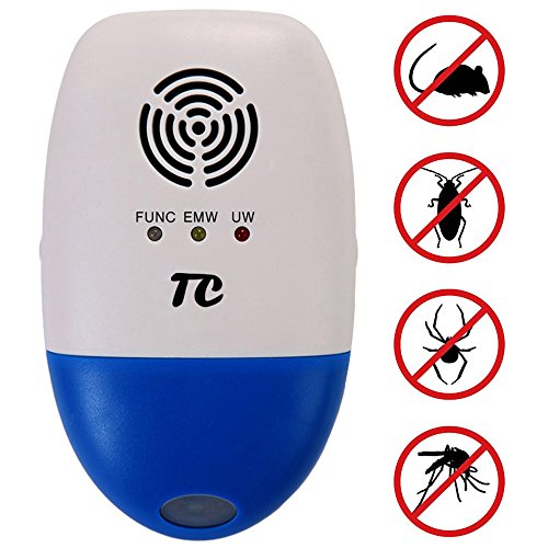 Ultrasonic Pest Repeller Against Mouse, Pest Control for Roaches, TCJOY  Electronic Pest Repellent Plug In Multi-functional Intelligent, Indoor &