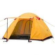 Weanas-Waterproof-Double-Layer-2-3-4-Person-3-Season-Aluminum-Rod-Double-Skylight-Outdoor-Camping-Tent-Orange-4-Person-0