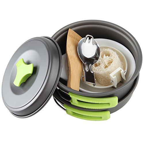 Camping Cookware Mess Kit Backpacking Gear Hiking Outdoors