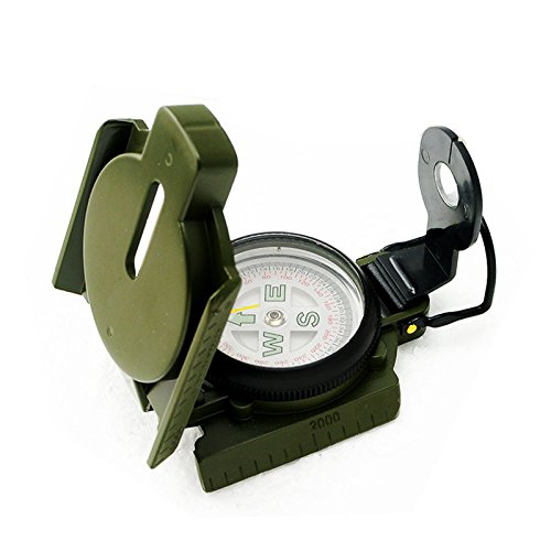 Metal Lensatic Compass Military Camping Hiking Army Style Survival Marching RR