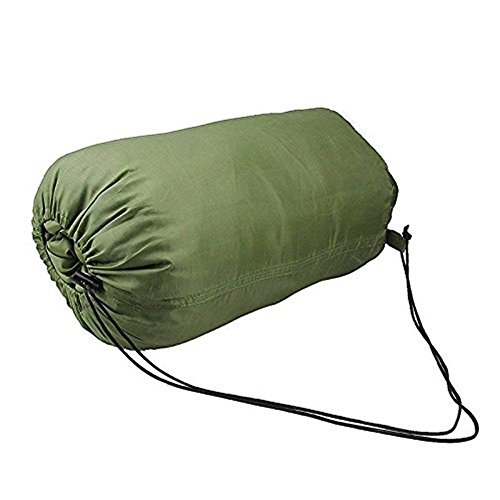 Iflyiing Outdoor Ultra Compactable Lightweight Sleeping Bag Camping Envelope Bags With Compression Army Green