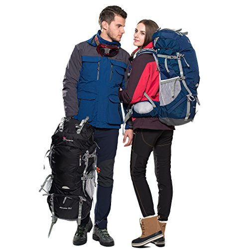 9f26e6b220 Mountaintop 65L Outdoor Hiking Backpack Camping Backpack Internal ...