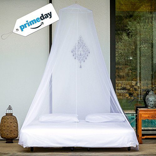 Treated Mosquito Net  Canopy Camping Netting White EXtra Large Size 9-10Person
