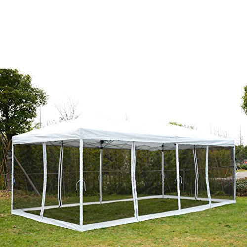 Outsunny 10' x 20' Pop-Up Canopy Shelter Party Tent with ...
