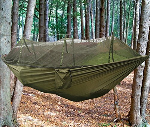 Douper Parachute Cloth 2 Person Hammock With Mosquito Net