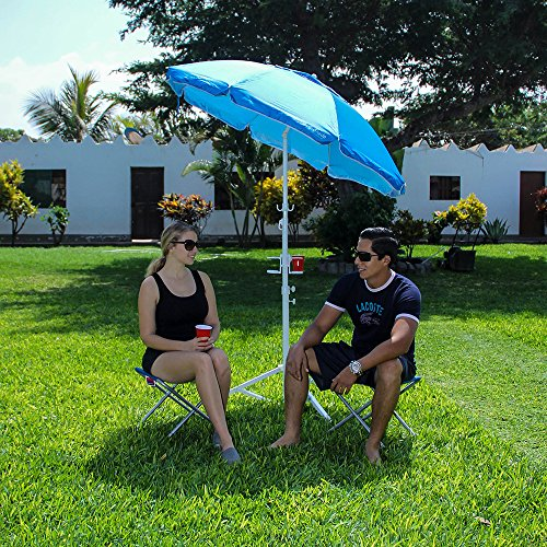 55 EasyGoShade Blue Portable Sun Shade Umbrella With
