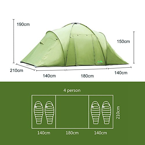 Arctic-Monsoon-Family-C&ing-2-Room-Tent-Starry-  sc 1 st  Discount Tents Nova & Arctic Monsoon Family Camping 2 Room Tent Starry T2 4-6 Person ...
