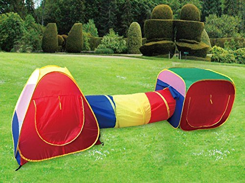 Cubby Tube Teepee 3pc Pop Up Play Tent Children Tunnel