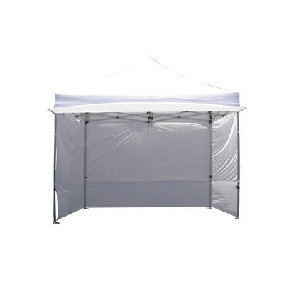 54dc45a7825 Impact Canopy 10x10 EZ Pop up Canopy Tent Instant Shelter Commercial  Portable Market Canopy with Matching Sidewalls, Weight Bags, Roller Bag  (White)   ...