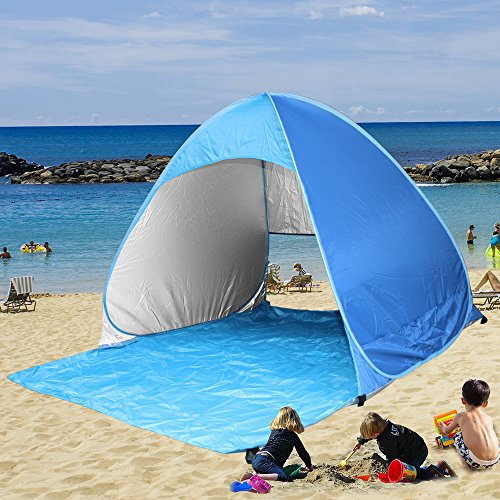 low priced e03ea e3e90 Kany Portable Outdoor Automatic Pop Up Instant Quick Cabana Beach Tent Sun  Shelter Canopy Sun Shade Sport Shelter Family Kids Baby Outdoor Camping ...