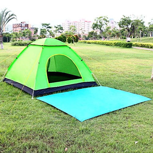 b78c83d6fe2 KevenAnna Automatic Pop Up Camping Tent 4 Person with Picnic Mats ...