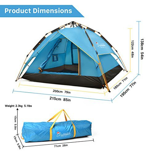 d555320ad3d Mountaintop Outdoor 2-3 Person Camping Tent Backpacking Tents with ...