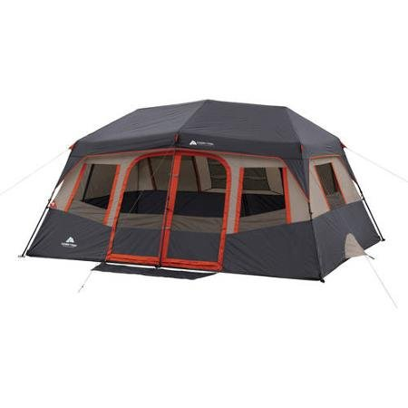 Orange Ozark Trail 10 Person 2 Room Instant Cabin Tent