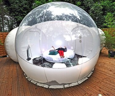 Outdoor Double Tunnel Inflatable Bubble Tent