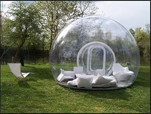 newest d51d3 6fa7e Outdoor Single Tunnel Inflatable Bubble Tent Family Camping Backyard  Transparent