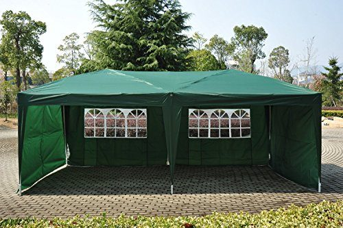 10 X 20 White Screen Party Tent With Enclosed Mesh Side Wall