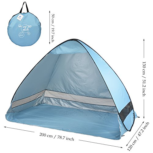 Oversized Pop Up Beach Tent Sun Sheltersautomatic L
